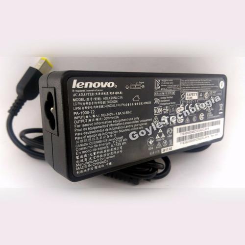 cargador original para laptop lenovo tipo usb x1 20v 4.5a