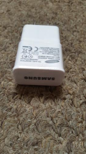 cargador original samsung doble usb blanco