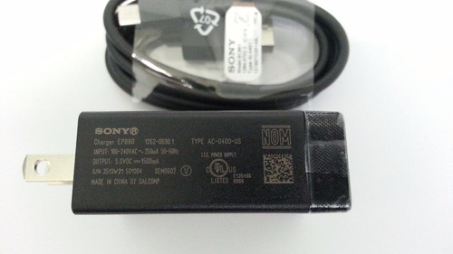 cargador original sony xperia z1 z2 z3 z4 z5 compact garanti