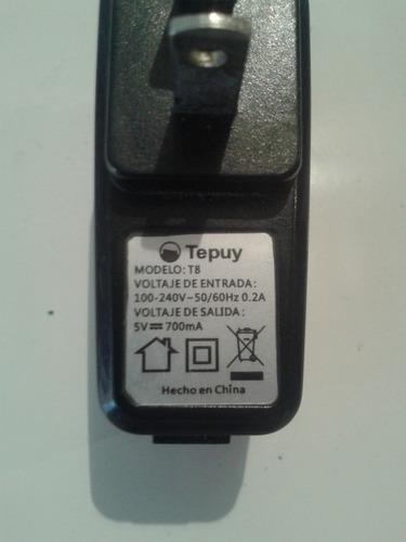 cargador original telefono tepuy t8