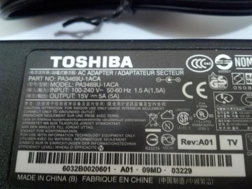 cargador original toshiba 15v 5a satellite tecra pro portege