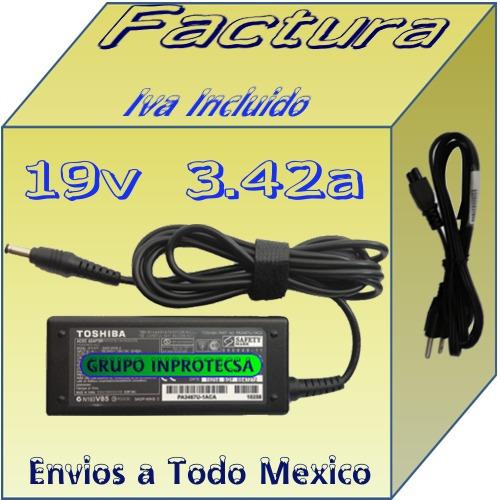 cargador original toshiba  a305 a305d-sp6802 19v 3.4a mmu