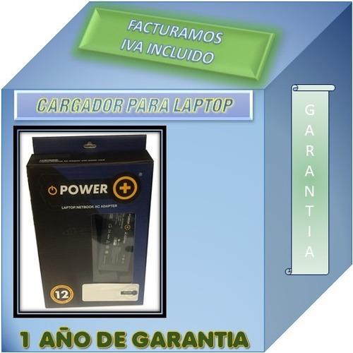 cargador p/ hp 1000-1442la 18.5v 3.5a garantia 1 año power +