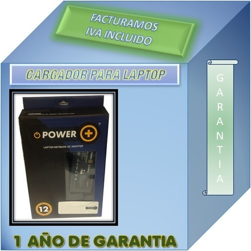 cargador p/ hp dv5-4000 18.5v 3.5a garantia 1 año power +