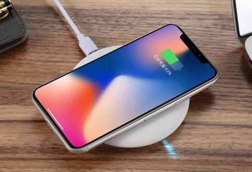 cargador pad inalámbrico carga rápida iphone x samsung s7 s8
