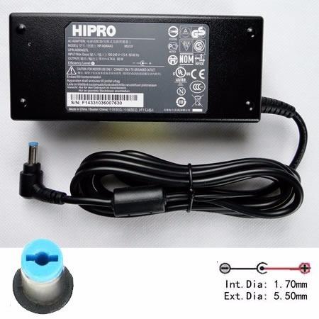 cargador para acer hipro hp-a0904a3 90watt 19v 4.74a