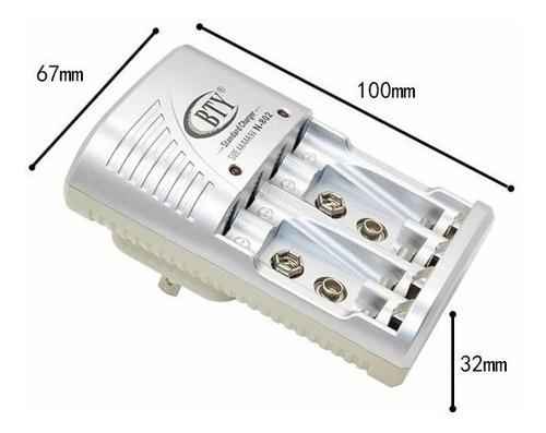 cargador para bateria recargables aa/aaa/9v marca bty