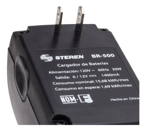cargador para bateria sellada acido-plomo 12v 6v steren @tl