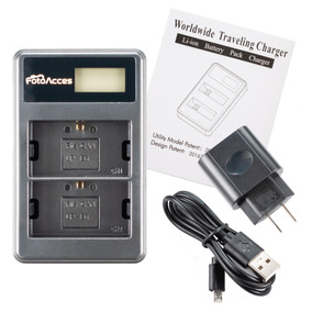 Batería cargador para Fujifilm//Kodak//Pentax cargador bateria estación de carga