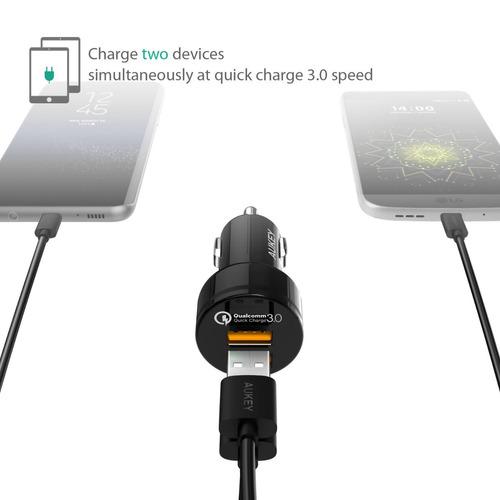 cargador para carro aukey quick charge 3.0