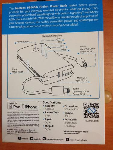 cargador para celular  portatil  nuevo 5.000 mah