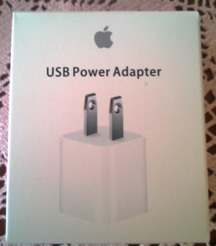 cargador para iphone ipod de 5w apple en caja original !