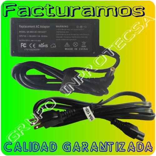 cargador para laptop acer aspire 4732z 5720 4732z-4612 mmu