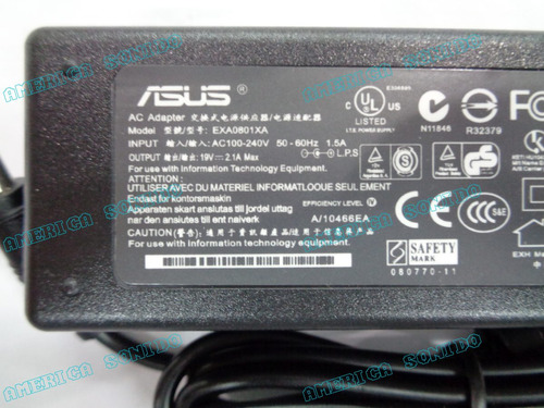 cargador para loptop 19v 2.1a marca asus compatible canaima