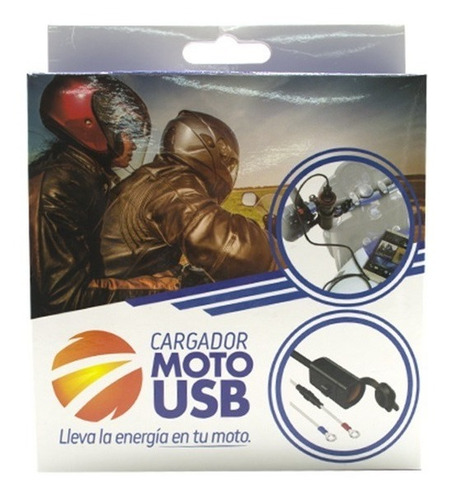 cargador para moto celular gps 2 puert usb impermeable