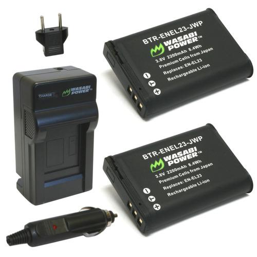 cargador para nikon en-el23 y coolpix b700, p600, p610, p900