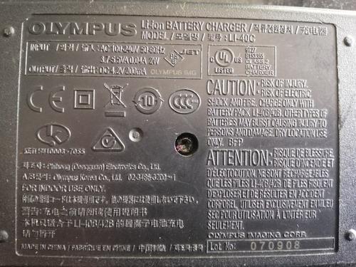 cargador para pila de camara olympus modelo li-40c