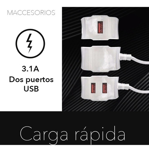 cargador pared 2 puertos usb + cable lightning iphone blanco
