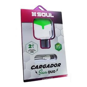 Cargador Pared Share Duo 2 Usb Micro Usb Carga Rapida