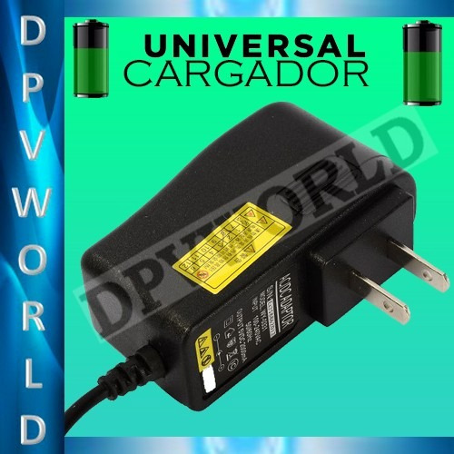 cargador pared tablet pc  2.0 amp pin 2.5 mm universal 7/8/9