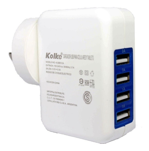 cargador pared usb 4 puertos hub celular fast charge