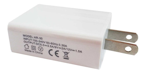 cargador pared usb tipo taco quick charger 3.0 carga rapida