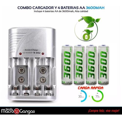 cargador pilas baterías recargables