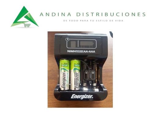 cargador pilas digital energizer 2 pilas recargables aaa aa