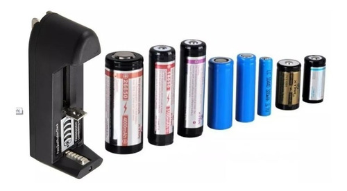 cargador pilas múltiple  3.7v modelo 18650 14500 16340