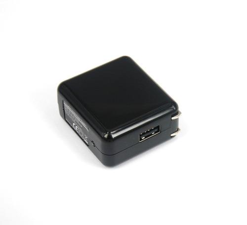 cargador portatil 2 usb.5 v.1a. clavijas plegables