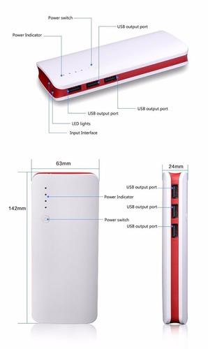 cargador portatil 20.000mah cel/gps/tab/cam oferton