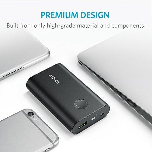 cargador portátil anker powercore 10050 premium de aluminio