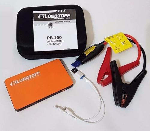 cargador portatil arrancador auto celular lusqtoff pb100 led