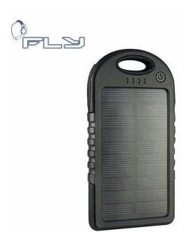 cargador portatil bateria solar y corriente 10800 mah.