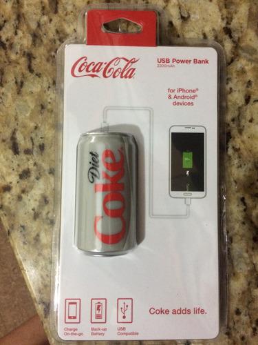cargador portatil coca cola 2200mah