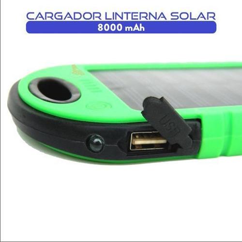 cargador portátil con linterna