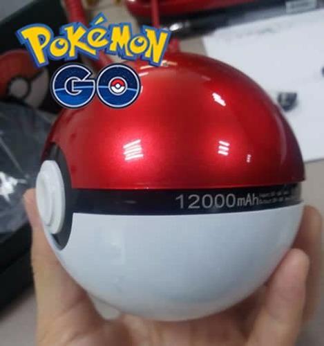 cargador portátil pokebola 12000mah 2 salidas pokemon go