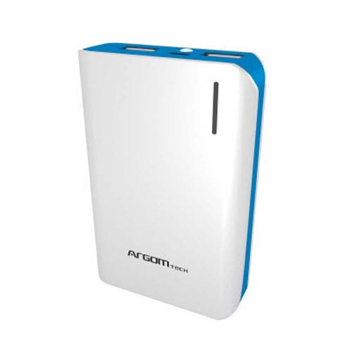 cargador portatil power bank 10000 ma argom carga rapida 2.1
