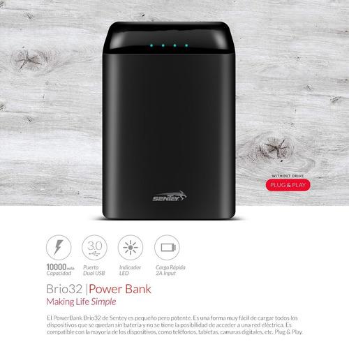 cargador portatil power bank 10000 mah real super liviano slim
