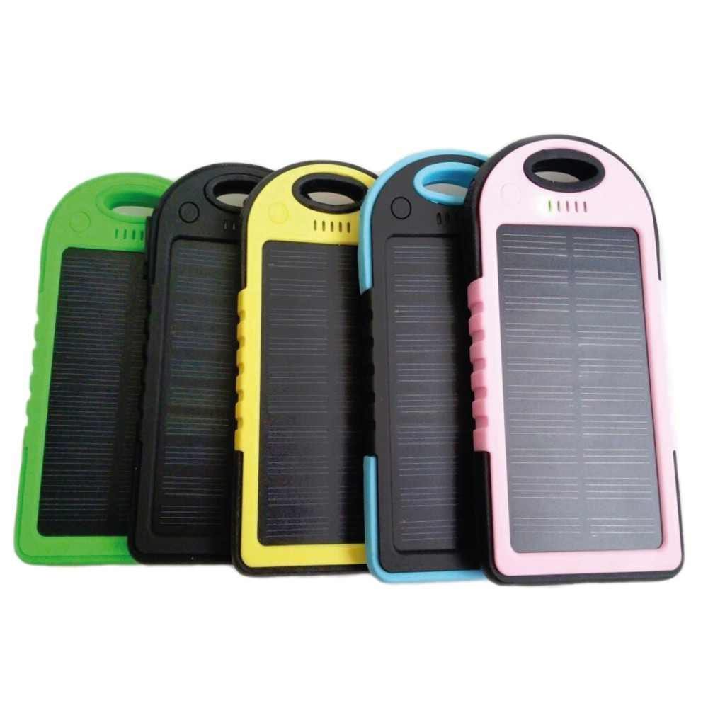 cargador port til power bank 5000mah panel solar 7hrs