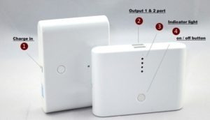 cargador portátil power bank 6000mah 2 salidas usb + cable