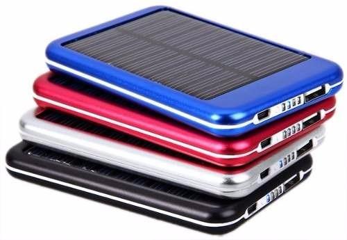 cargador portátil power bank solar 8000 mah + 06 accesorios