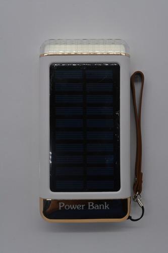 cargador portatil  power bank solar linterna  20000 mah