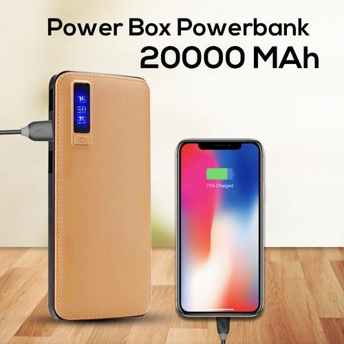 cargador portátil powerbank 20000mah con 3 puertos usb