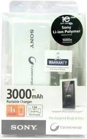 cargador portatil powerbank sony 3000ma - factura a / b