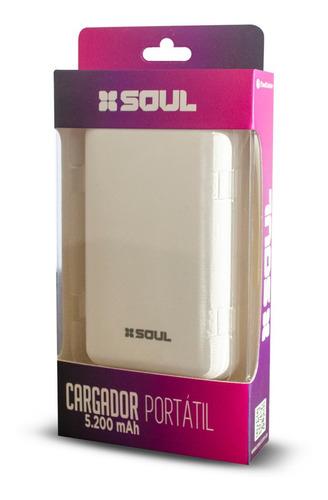 cargador portatil powerbank soul 5200ma - factura a / b