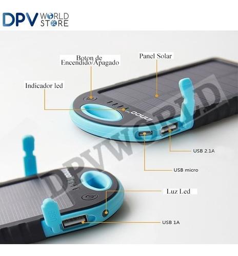 cargador portatil samsung solar 10800 mah s9 xperia xiaomi