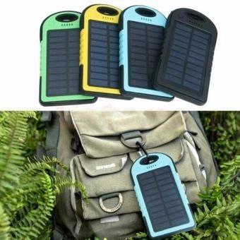 cargador portátil solar 12000 mah linterna + llavero