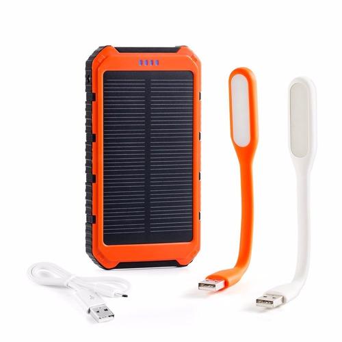 cargador portatil solar para celular y tablet10mil mah