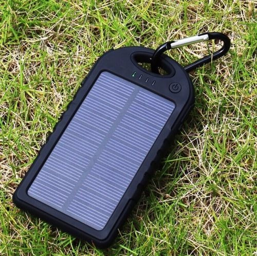 cargador portatil solar power bank impermeable 12.000 mah